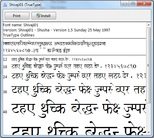 How To Install Marathi Font